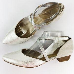 [ARA] Poppy Pumps D'Orsay Strappy Metallic Leather